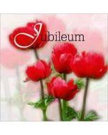 wenskaart jubileum - bloemen