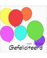 felicitatiekaart muller wenskaarten - van harte gefeliciteerd - ballonnen