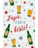 vaderdagkaart - papa jij bent de beste - bier