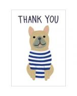 wenskaart roger la borde -  thank you - hond