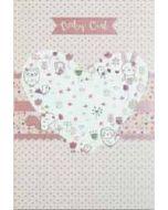 geboortekaartje busquets - baby girl - hart