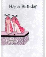 grote verjaardagskaart A4 - happy birthday just for you - schoenen