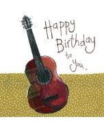 verjaardagskaart alex clark - happy birthday to you x - gitaar