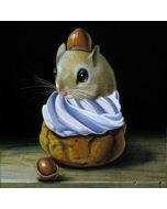 vierkante ansichtkaart gwenaëlle trolez - muis