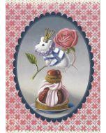 ansichtkaart gwenaëlle trolez - muis op gebakje