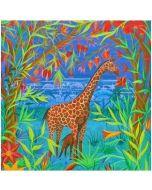 ansichtkaart met envelop gwenaëlle trollez - giraffe