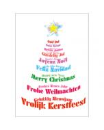 grote A4 kerstkaart  -  vrolijk kerstfeest gelukkig nieuwjaar  - merry christmas - frohe weihnachten