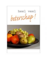 grote beterschapskaart A4 - heel veel beterschap - fruit