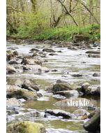 grote wenskaart A4 - sterkte - rivier met stenen