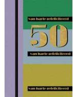 50 jaar - grote felicitatiekaart A4 goud en meer - 50 van harte gefeliciteerd - blauw groen