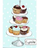 wenskaart mouse & pen - cupcakes