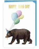 wenskaart correspondances - happy bear-day - beer