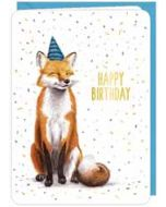 wenskaart correspondances - happy birthday - vos