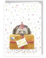 wenskaart correspondances - happy birthday - egel