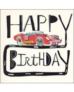 verjaardagskaart woodmansterne - happy birthday - auto
