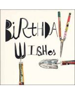 verjaardagskaart woodmansterne - birthday wishes - tuingereedschap