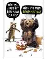 verjaardagskaart crackerjack - did you make my birthday cake - with my own bear hands