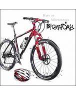 verjaardagskaart just josh - have an adventurous birthday - fiets