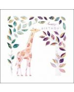 verjaardagskaart elixir - happy birthday - giraffe