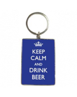 Sleutelhanger: Keep calm and drink beer