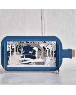 3D pop up kaart - message in a bottle - meisje in bos
