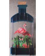 message in a bottle - 3d art kaart - flamingo