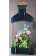 message in a bottle - 3d art kaart - vogels