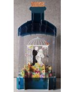 message in a bottle - 3d art trouwkaart - bruidspaar