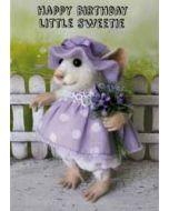 santoro tiny squee mousies verjaardagskaart - happy birthday little sweetie