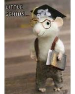 santoro tiny squee mousies afscheidskaart - little genius...