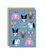 verjaardagskaart new graphics - happy birthday - honden