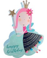 3d wenskaart paper dazzle - happy birthday - fee