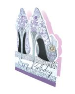 3d wenskaart paper dazzle - happy birthday - pumps