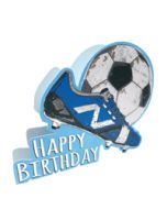 3d wenskaart paper dazzle - happy birthday - voetbal