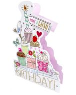 3d wenskaart paper dazzle - it's your birthday - cupcakes