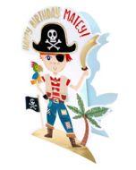 3d wenskaart paper dazzle - happy birthday matey! - piraat