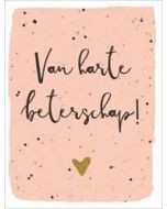 beterschapskaart  piano small notecards - van harte beterschap!