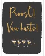 felicitatiekaart  piano small notecards - proost van harte!