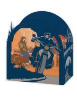 3d kaart - pop up laser - born to be wild - motorfiets