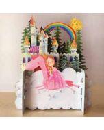 3d pop up kinderkaart - prinses