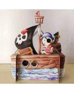3d pop up kinderkaart - piraat