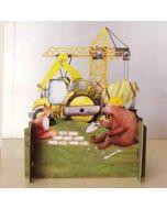 3d pop up kinderkaart - bouwvoertuigen