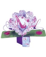 3D verjaardagskaart - pop ups - birthday girl for you - schoen