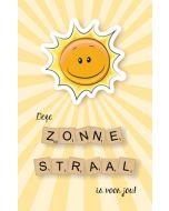 wenskaart - deze zonnestraal is voor jou! - zon