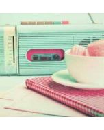 retro wenskaart busquets - cassetterecorder