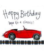 verjaardagskaart alex clark - happy birthday hope it s a classic! - auto
