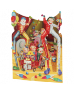 3D kaart - swing cards - big top clowns