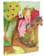 3D kaart - swing cards - prinses op het paard
