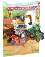3D kaart - swing cards - tractor en graafmachine