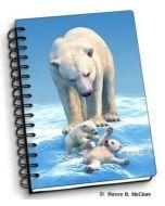 notitieboek 3D - ijsberen